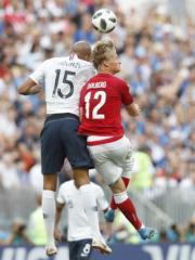 【世界盃‧法國對丹麥0:0】(新華社)
