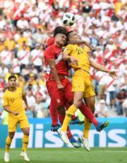 【世界盃‧秘魯挫澳洲2:0】(新華社)