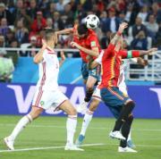 【世界盃‧西班牙對摩洛哥2:2】(新華社)