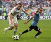 【世界盃‧烏拉圭挫俄羅斯3:0】(新華社)