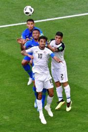 【世界盃‧巴西對哥斯達黎加】哥斯達黎加中鋒Bryan Ruiz (前)(法新社)