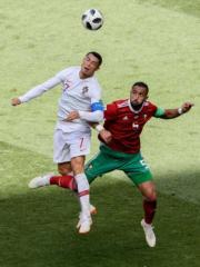 【世界盃‧摩洛哥對葡萄牙】葡萄牙隊長C朗 (左)(法新社)