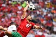 【世界盃‧摩洛哥對葡萄牙】摩洛哥中鋒Younes Belhanda(法新社)
