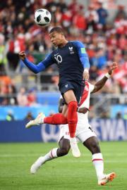 【世界盃‧秘魯對法國】法國前鋒基利安麥巴比 (Kylian Mbappe)(法新社)