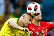 【世界盃8強-巴西1:2負比利時】尼馬(左)(法新社)