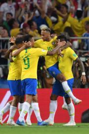 【世界盃‧巴西挫塞爾維亞2:0】尼馬 (穿10號球衣) (法新社)