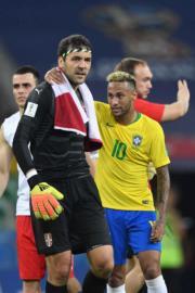 【世界盃‧巴西挫塞爾維亞2:0】尼馬 (右) (法新社
