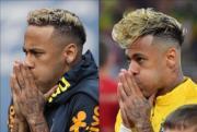 左圖:尼馬6月20日的髮型。右圖:尼馬6月17日的髮型,其時被稱為意粉頭/即食麵頭。 (法新社)