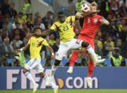 【世界盃‧英格蘭以12碼淘汰哥倫比亞】哈利卡尼 (右) (新華社)