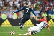 【法國奪世界盃】法國前鋒基沙文 (左) (法新社)