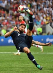 【法國奪世界盃】世界盃決賽,法國以4:2擊敗首晉決賽的克羅地亞。(新華社)