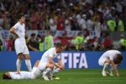 【世界盃4強 克羅地亞2︰1挫英格蘭】英格蘭球員失落(法新社)
