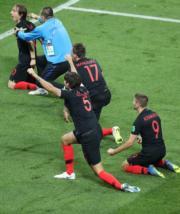 【世界盃4強 克羅地亞2︰1挫英格蘭】(新華社)