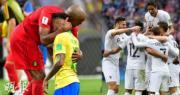 【世界盃‧8強淘汰賽】比利時擊敗巴西,法國擊敗烏拉圭,晉身4強。(法新社/新華社)