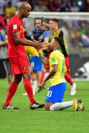 【世界盃‧8強淘汰賽:比利時2:1挫巴西】(法新社)