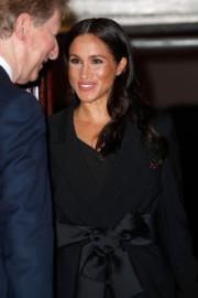 2018年11月10日,英國王室成員在倫敦出席活動。圖為梅根。(法新社)