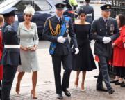 2018年7月10日,英國王室成員出席皇家空軍百周年活動。(法新社)