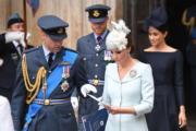 英國劍橋公爵伉儷(前排)、英國薩塞克斯公爵伉儷(後排)(法新社)
