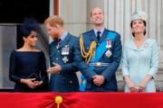 英國薩塞克斯公爵伉儷(左一、左二)英國劍橋公爵伉儷(右一、右二)(法新社)