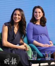 梅根(左)與凱特(右) (法新社)