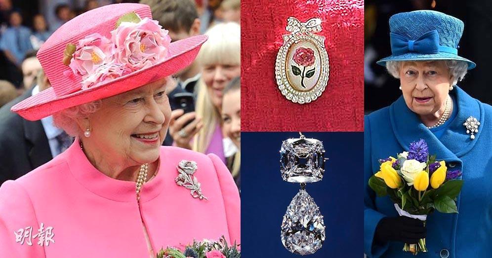 英女王心口針逐個睇