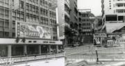 攝於1976-1980年的彌敦道:左圖為普慶戲院,右圖為彌敦道與眾坊街交界。(香港政府檔案處網站圖片/明報製圖)