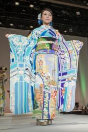 【2020東京奧運‧和服計劃】代表立陶宛 (Lithuania) 的和服(KIMONO PROJECT網站圖片)