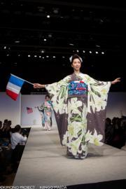 【2020東京奧運‧和服計劃】代表法國的和服(KIMONO PROJECT網站圖片)