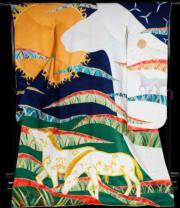 【2020東京奧運‧和服計劃】代表哈薩克斯坦 (Kazakhstan) 的和服(KIMONO PROJECT網站圖片)