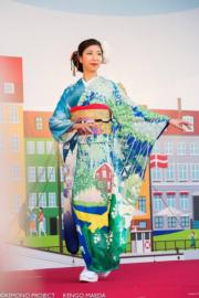 【2020東京奧運‧和服計劃】代表瑞典的和服(KIMONO PROJECT網站圖片)