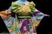【2020東京奧運‧和服計劃】代表尼日利亞 (Nigeria) 的和服(KIMONO PROJECT網站圖片)