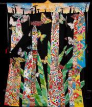 【2020東京奧運‧和服計劃】代表馬達加斯加 (Madagascar) 的和服(KIMONO PROJECT網站圖片)