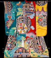 【2020東京奧運‧和服計劃】代表喀麥隆 (Cameroon) 的和服(KIMONO PROJECT網站圖片)