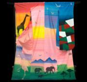 【2020東京奧運‧和服計劃】代表肯尼亞 (Kenya) 的和服(KIMONO PROJECT網站圖片)