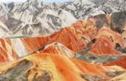 甘肅張掖丹霞國家地質公園的丹霞地貌(新華社)