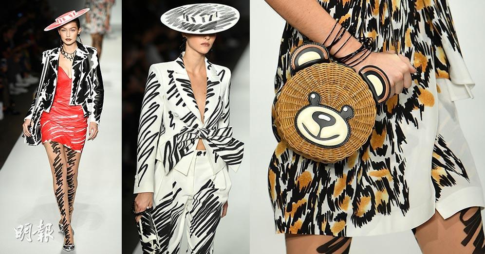 【米蘭時裝周】Moschino 2019春夏系列「未完草圖」著上身 Gigi Hadid披嫁衣
