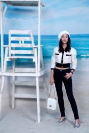 【巴黎時裝周】張鈞甯欣賞Chanel 2019年春夏系列時裝展。(法新社)
