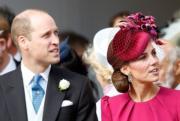 【尤金妮亞公主婚禮】劍橋公爵伉儷威廉王子(左)與凱特(法新社)