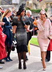 【尤金妮亞公主婚禮】名模Naomi Campbell(左) (法新社)