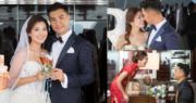 陳展鵬與單文柔的婚禮甜蜜又溫馨。(大會提供圖片/明報製圖)