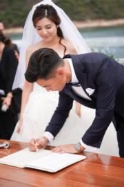 簽名後就是一生的承諾。(大會提供圖片)