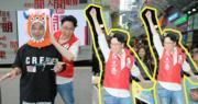 為「香港開電視」節目街頭造勢 陳志雲挑戰旺角大媽
