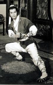 1978年電視劇《倚天屠龍記》中的主角張無忌由鄭少秋飾演(黑白劇照)