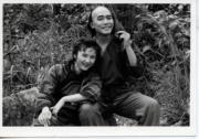 1984年電視劇《鹿鼎記》:景黛音(左)、梁朝偉(右)(黑白資料圖片)