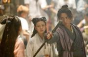2014年電視劇《神鵰俠侶》:陳曉、陳妍希分別飾演楊過、小龍女。(劇照)