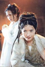 藍潔瑛(前)曾參演電影《西遊記》。(《西遊記》劇照)