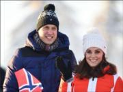 【外訪挪威】英國劍橋公爵威廉王子(左)及夫人凱特(右)(Kensington Royal Twitter)