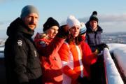 【外訪挪威】英國劍橋公爵及夫人(右)、挪威王儲哈康伉儷(左)(法新社)