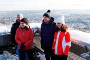 【外訪挪威】英國劍橋公爵伉儷(右)、挪威王儲哈康伉儷(左)(法新社)