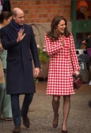 2018年1月31日,英國劍橋公爵伉儷威廉王子和凱特,外訪瑞典第二日。 (法新社)